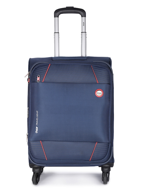 VIP Unisex Blue Solid CONQUER Cabin Trolley Bag