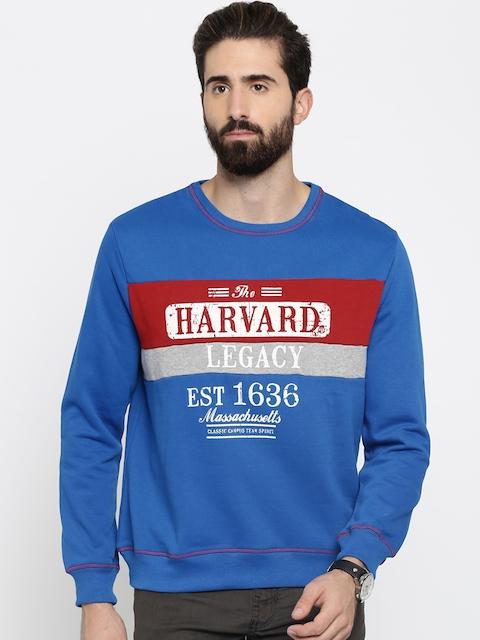 HARVARD Blue Printed Sweatshirt