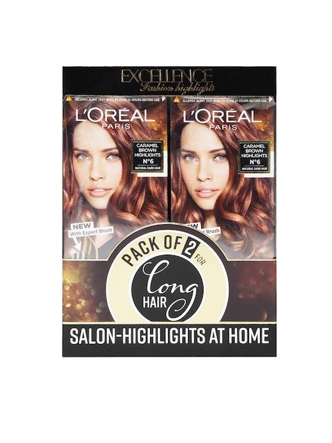 LOreal Paris Pack of 2 Caramel Brown Hair Colour