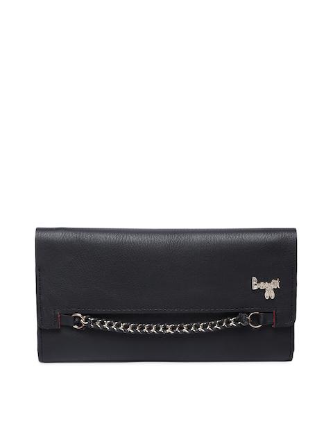Baggit Women Black Solid Three Fold Wallet