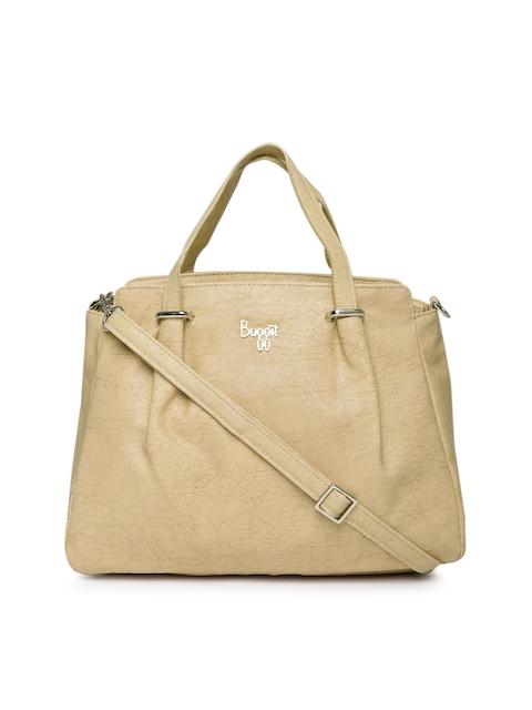 Baggit Beige Solid Handheld Bag
