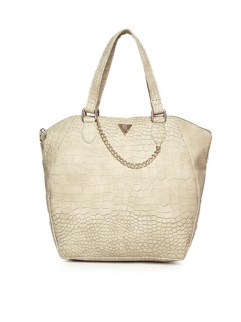 Baggit Beige Textured Handheld Bag