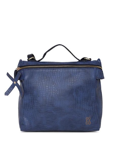 Baggit Blue Textured Handheld Bag