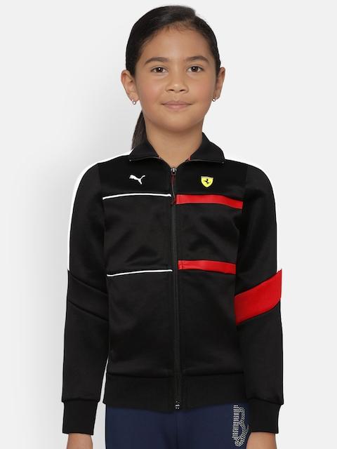Puma Kids Black Solid SF Kids T7 Track Sporty Jacket