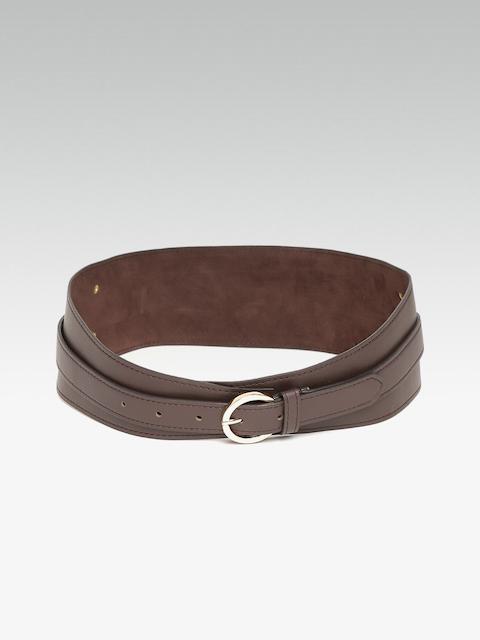 20Dresses Women Coffee Brown Solid Waist Belt