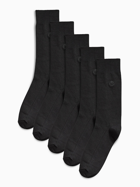 next Men Pack of 5 Assorted Calf-Length Socks