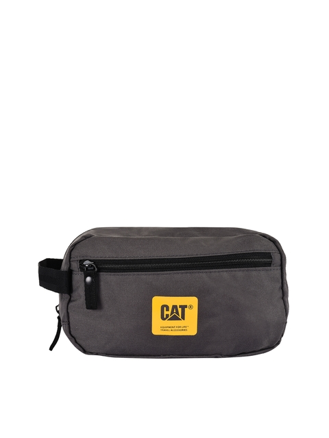 CAT Unisex Grey Solid Toiletry Bag