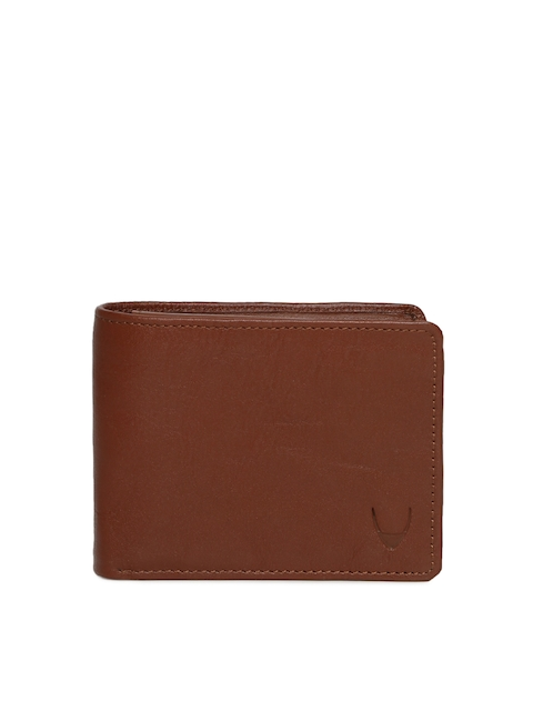Hidesign Men Tan Solid Two Fold Genuine Leather Wallet