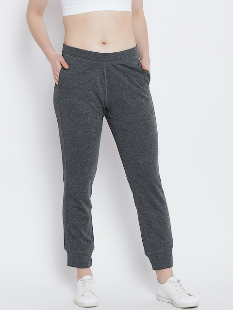ADIDAS Women Charcoal Grey Solid Tapered Fit BT KNIT Joggers