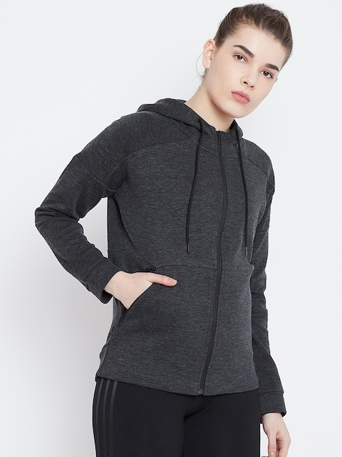 ADIDAS Charcoal Grey W ID STADIUM HD Sweatshirt