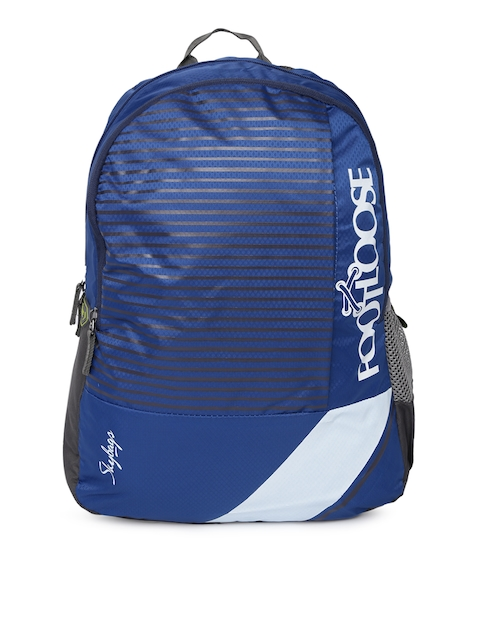 Skybags Unisex Blue & Black Striped Backpack