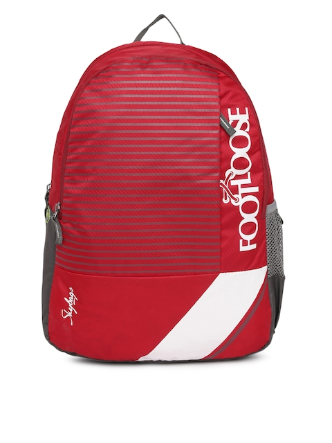 Skybags Unisex Red Striped Backpack