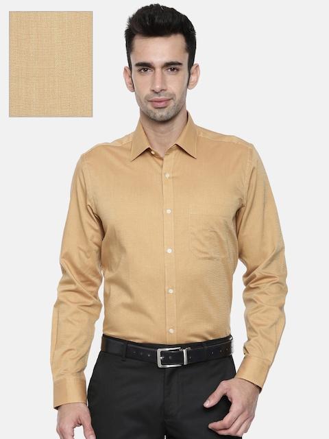 f3a1fc8b13c 55%off Raymond Men Camel Brown Contemporary Regular Fit Solid Formal Shirt
