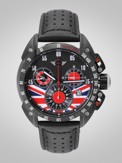 MINI Men Black & Red Analogue Watch 160307