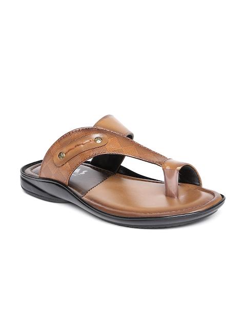 Mocas Men Brown Leather Comfort Sandals