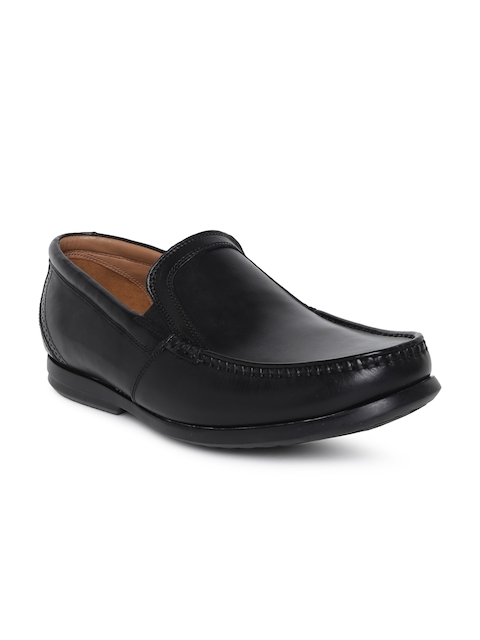 Clarks Men Black Un Gala Leather Loafers