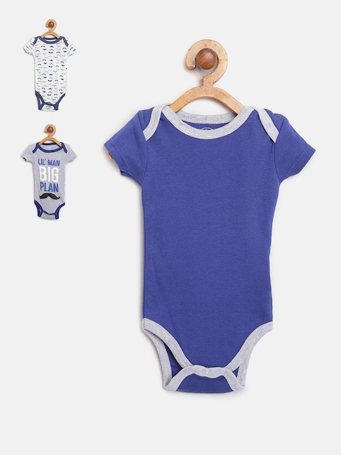 Mothers Choice Boys Pack of 3 Bodysuits