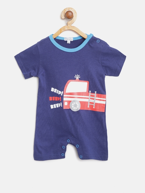 Mothers Choice Boys Navy Blue Rompers