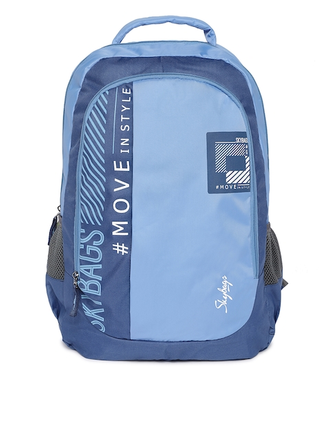 Skybags Unisex Blue Typography Backpack