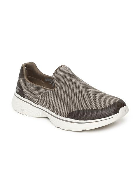 Skechers Men GO WALK 4 -VIABILITY Khaki Walking Shoes