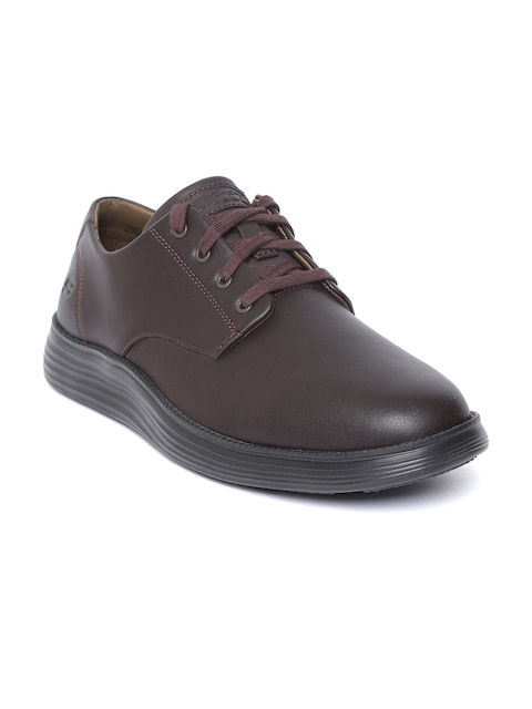 Skechers Men Coffee Brown Status 2.0-Arleno Derbys