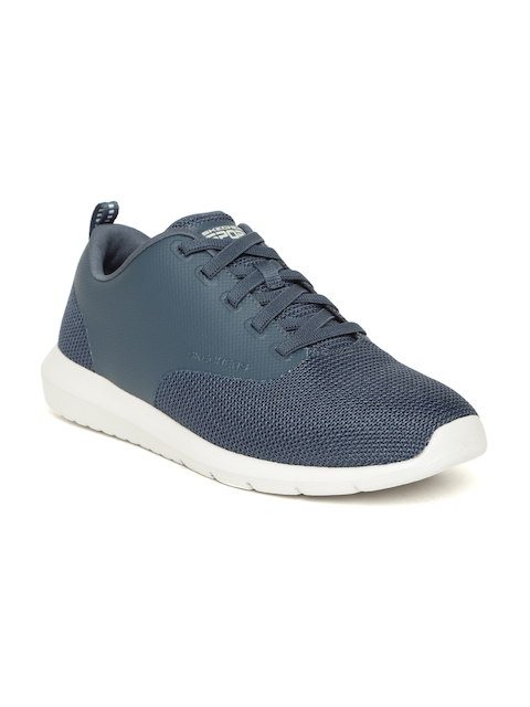 Skechers Men Navy Blue Foreflex Click Bait Snekers