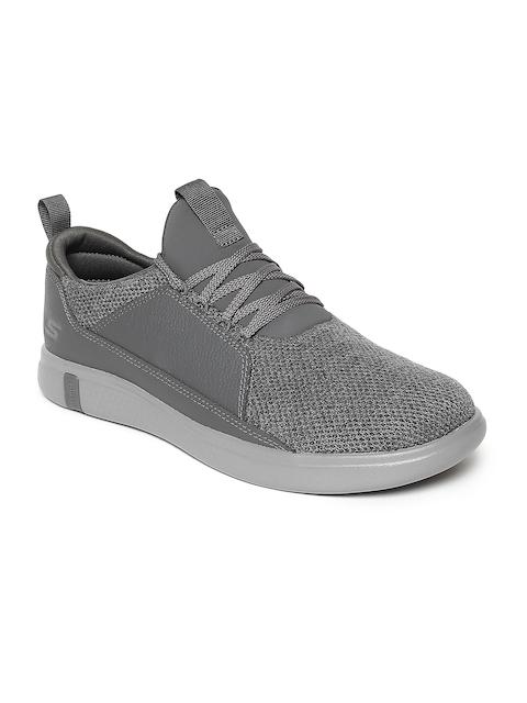 Skechers Men GLIDE ULTRA Grey Suede Walking Shoes