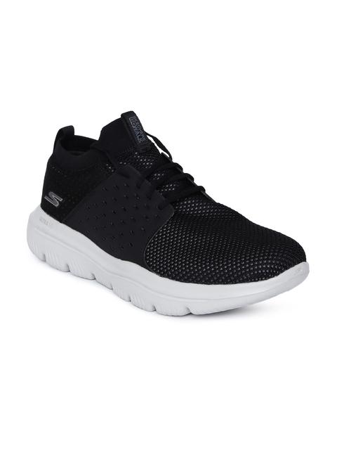 Skechers GO WALK EVOLUTION ULTRA-TURBO Men Black Walking Shoes
