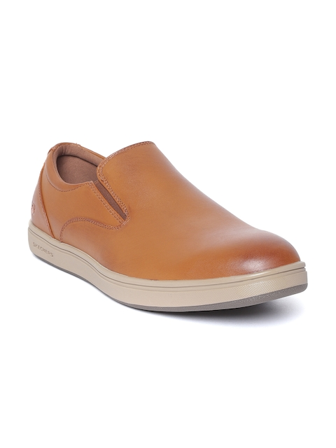 Skechers Men Brown Pelego Corvis Slip-Ons
