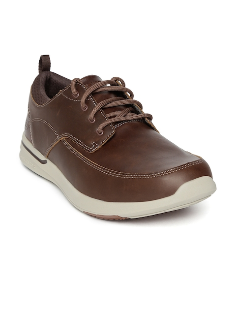 Skechers Men Brown Elent-Leven Shoes