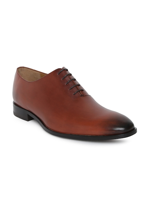 Tresmode Men Brown Leather Oxfords