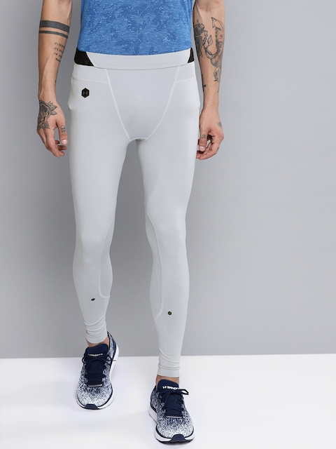 UNDER ARMOUR Men Grey Solid Rush Tights