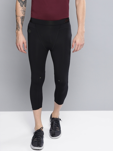 UNDER ARMOUR Men Black Solid Rush 3/4th Tights