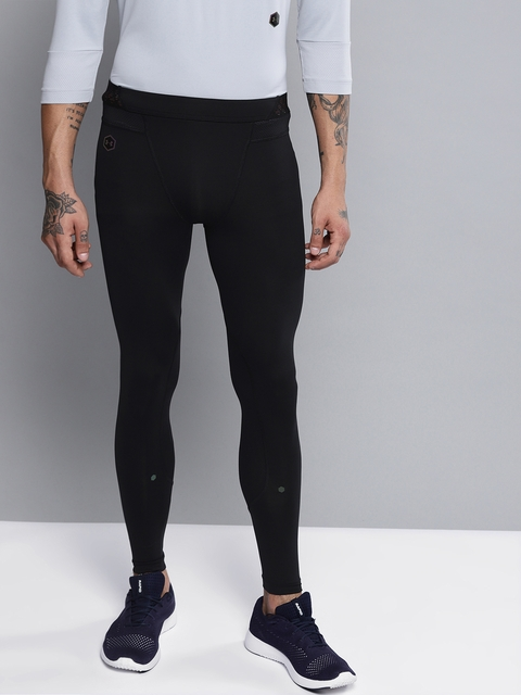 UNDER ARMOUR Men Black Solid Rush Tights