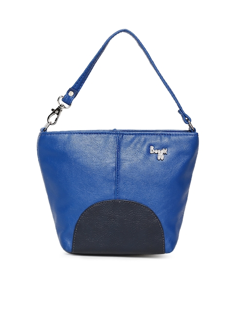 Baggit Blue Solid Colourblocked Handheld Bag