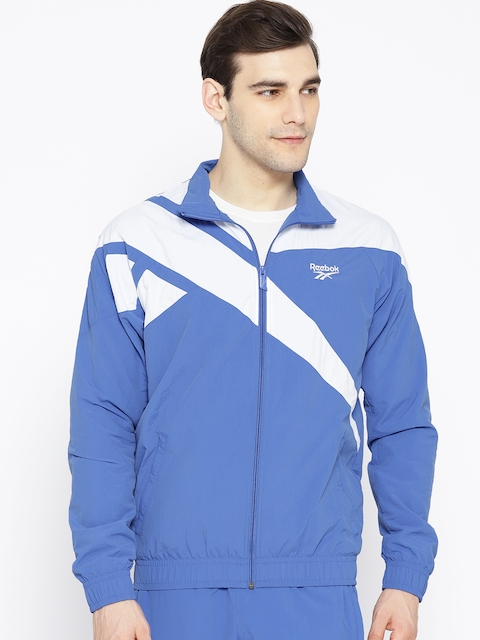 Reebok Classic Men Blue & White Archive LF Vector Track Jacket