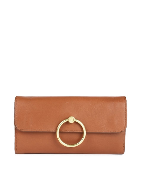 Hidesign Women Tan Brown Solid Leather Two Fold Wallet