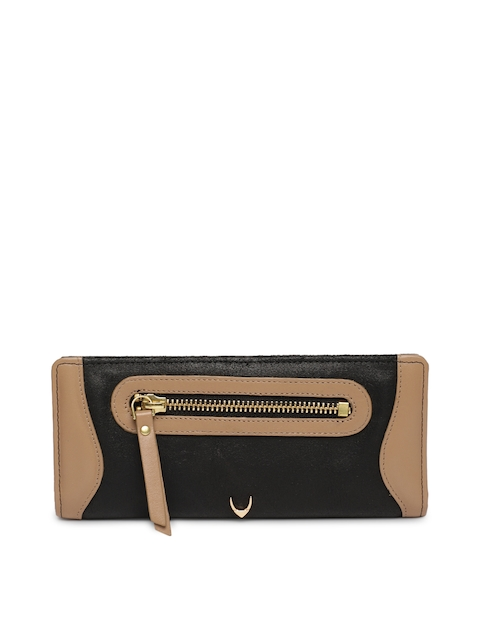 Hidesign Women Black & Brown Solid Two Fold Leather Wallet