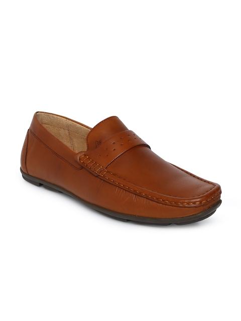 Arrow Men Tan Brown Semi-Formal Leather Loafers