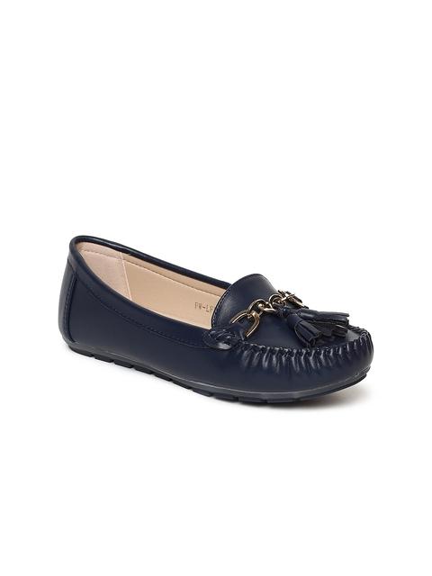 Addons Women Navy Blue Loafers