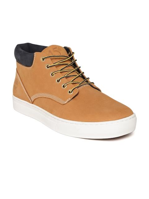 Timberland Men Tan Flat Boots