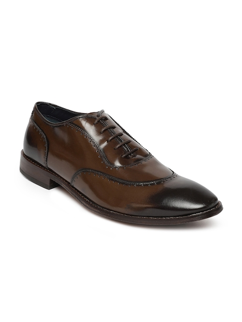 Raymond Men Brown Formal Leather Brogue Shoes