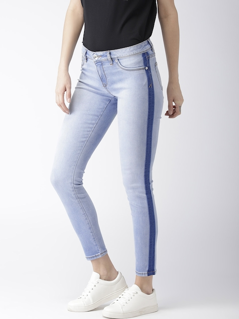 Superdry Women Blue Alexia Regular Fit Mid-Rise Clean Look Stretchable Cropped Jeans
