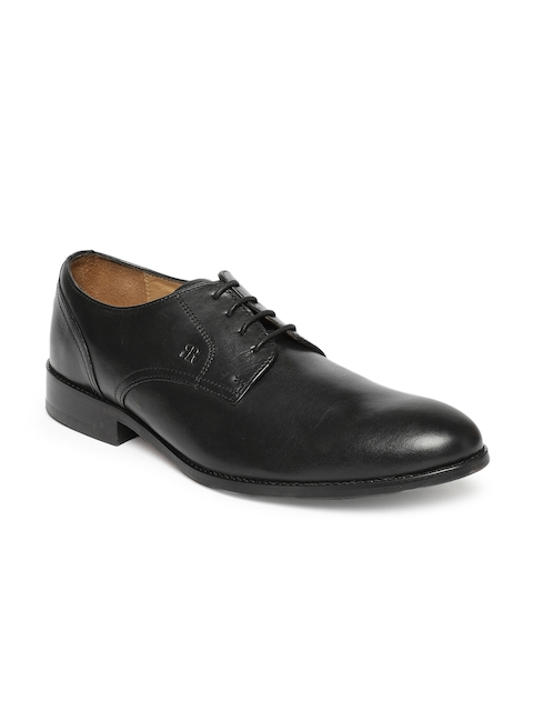 Raymond Men Black Formal Leather Derby Shoes