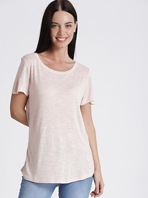 GAP Womens Beige Short Sleeve Crewneck T-Shirt