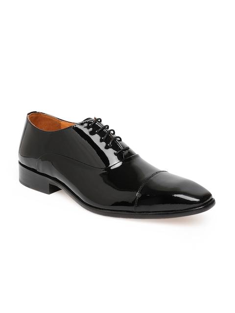 Tresmode Men Black Solid Formal Oxfords