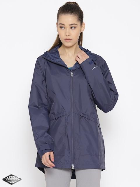 Columbia Navy Arcadia Waterproof Breathable Rain Jacket