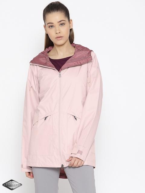 Columbia Pink Arcadia Waterproof Breathable Rain Jacket