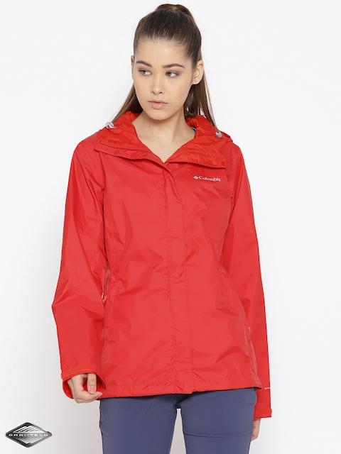 Columbia Red Arcadia II Waterproof Breathable Rain Jacket