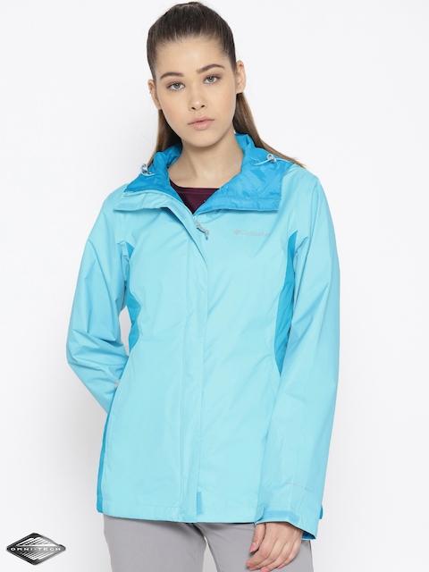 Columbia Blue Arcadia II Waterproof Breathable Rain Jacket
